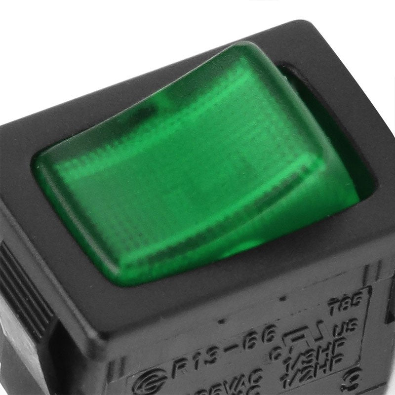 Car Boat Truck 12V 20A 3 Pin On/Off Green LED Mini Rocker Power Toggle Switch-Control Switches-BuildFastCar-BFC-CONSW-T1-GN