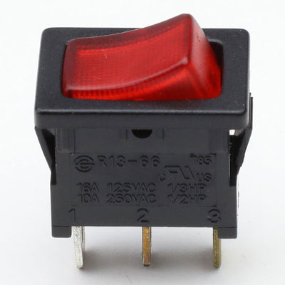 Car Boat Truck 12V 20A 3 Pin On/Off Red LED Rocker Power Toggle Switch Control-Control Switches-BuildFastCar-BFC-CONSW-T1-RD
