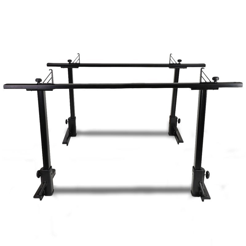 Coated Black 2-Bar Adjust Pickup Trunk Bed Mount Utility Truck Bed Carrier Rack-Exterior-BuildFastCar