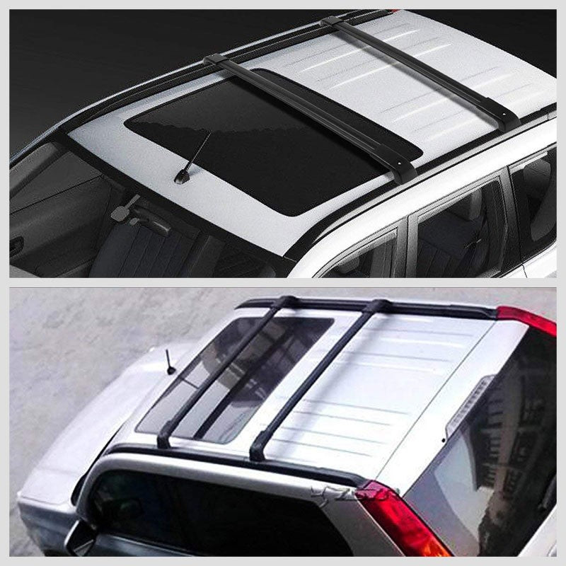 Black Aluminum OE Style Bolt-On Top Roof Rack Rail Cross Bar For 08-16 X-Trail-Exterior-BuildFastCar