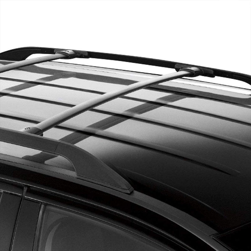 Black Aluminum OE Style Bolt-On Top Roof Rack Rail Cross Bar For 16-18 Explorer-Exterior-BuildFastCar