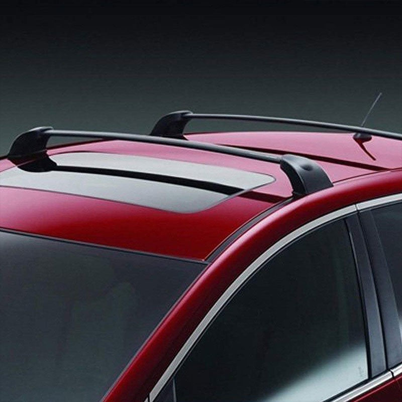 Black Aluminum OE Style Bolt-On Top Roof Rack Rail Cross Bar For 07-12 CX-7-Roof Parts-BuildFastCar