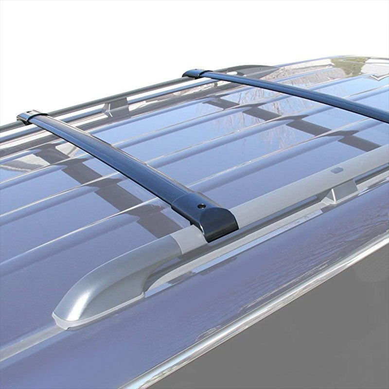 Black Aluminum OE Style Bolt-On Top Roof Rack Rail Cross Bar For 05-10 Odyssey-Exterior-BuildFastCar