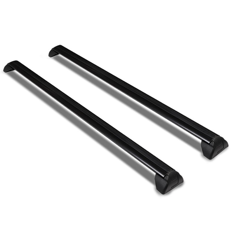 Black Aluminum OE Style BoltOn Top Roof Rack Rail Cross Bar For 02-07 Saturn Vue-Exterior-BuildFastCar