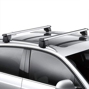 Silver Aluminum OE Style Bolt-On Top Roof Rack Rail Cross Bar For 09-16 Audi Q5-Exterior-BuildFastCar