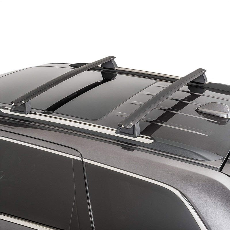 Black Aluminum OE Style Top Roof Rack Rail Cross Bar For 11-18 Grand Cherokee-Exterior-BuildFastCar