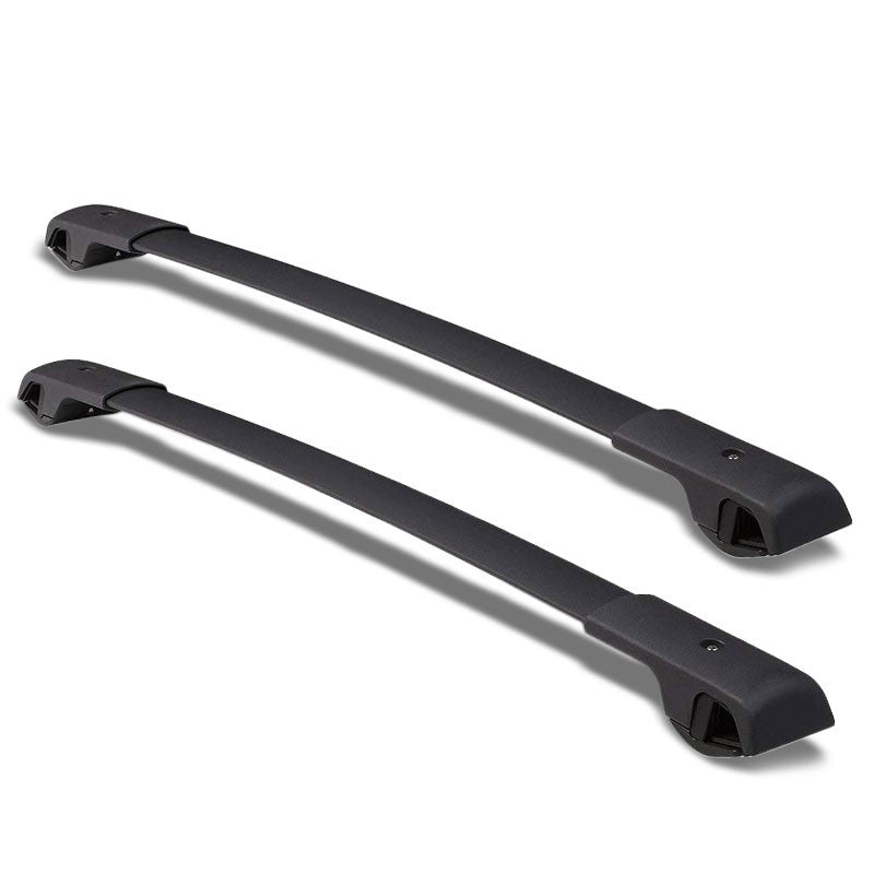 Black Aluminum OE Style Bolt-On Top Roof Rack Rail Cross Bar For 14-18 Forester-Exterior-BuildFastCar