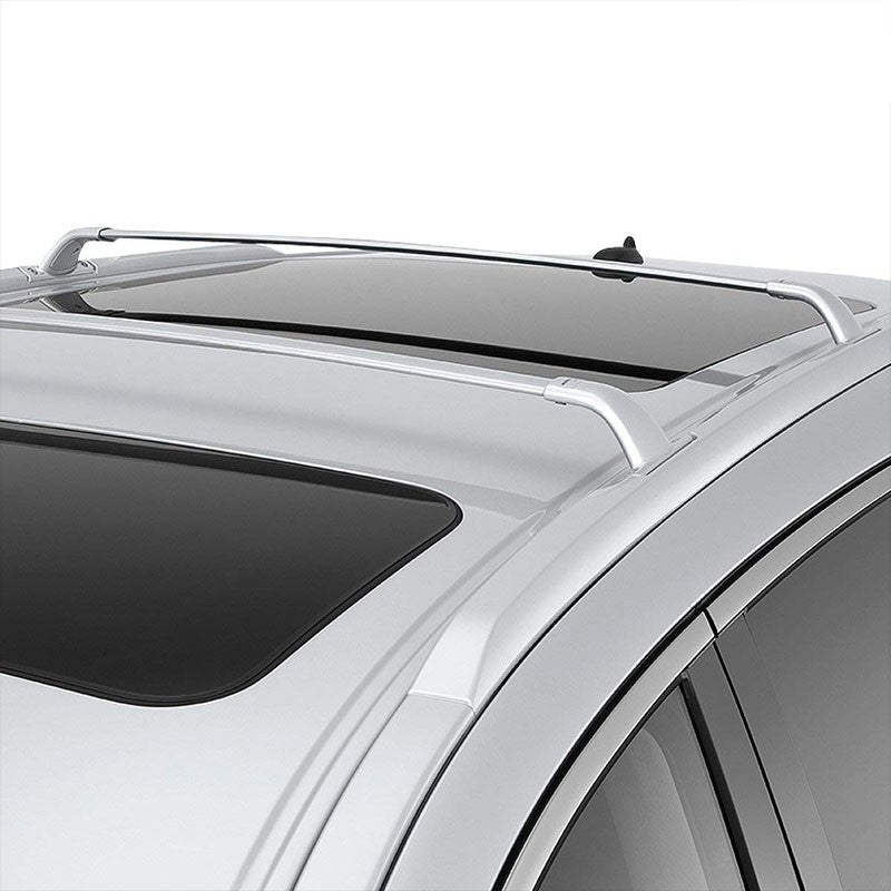 Black Aluminum OE Style Bolt-On Top Roof Rack Rail Cross Bar For 13-18 JX35 QX60-Exterior-BuildFastCar