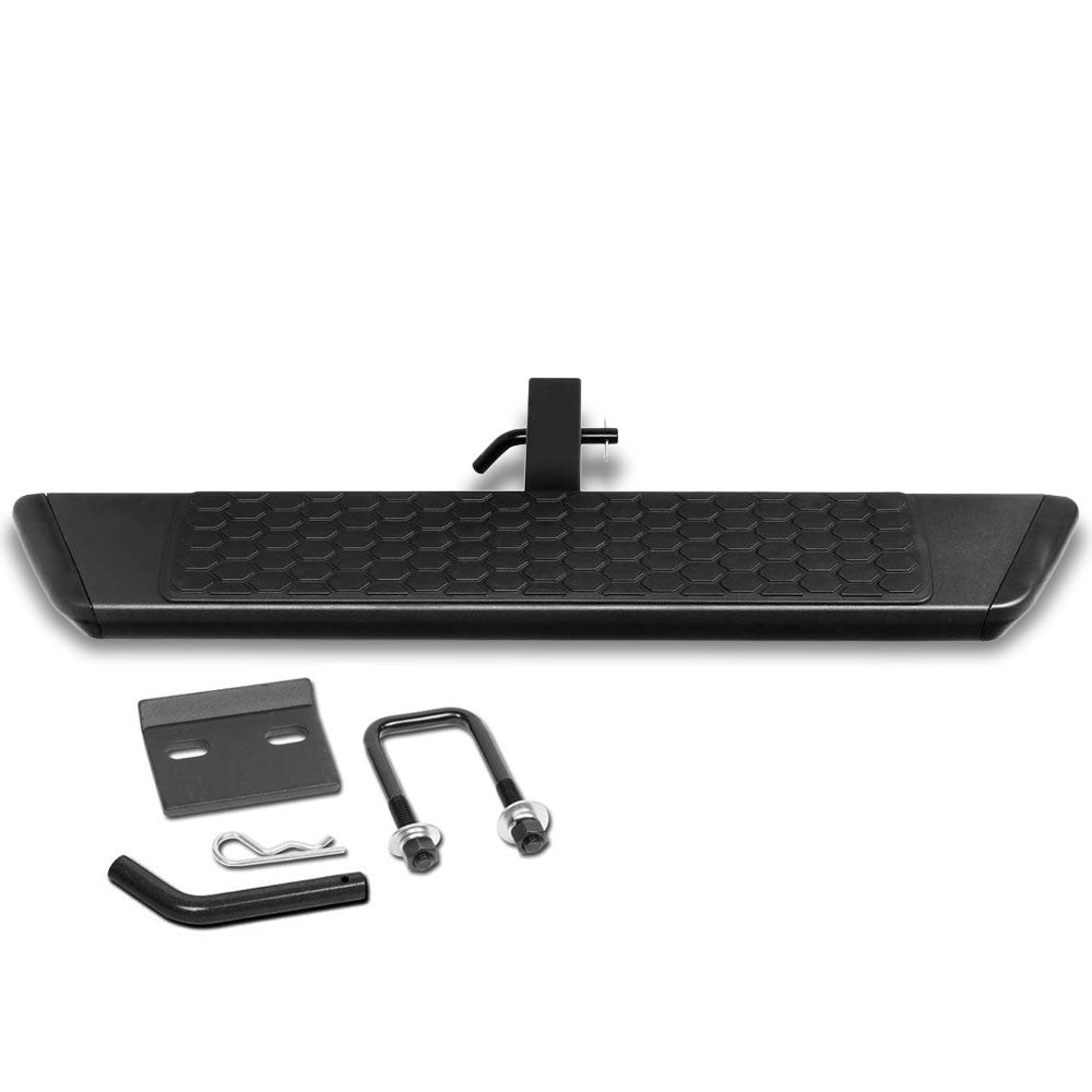 "36""Long/5.5L Wide Flat Step Heavy Duty Tow Hitch Step Bar Black For 2"" Receiver"