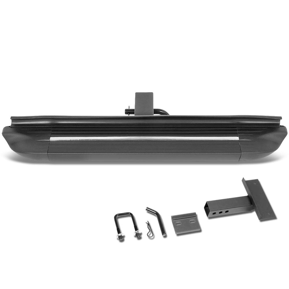 "26.75""Long/4"" Wide Square Step Heavy Duty Hitch Step Bar Black For 2"" Receiver"