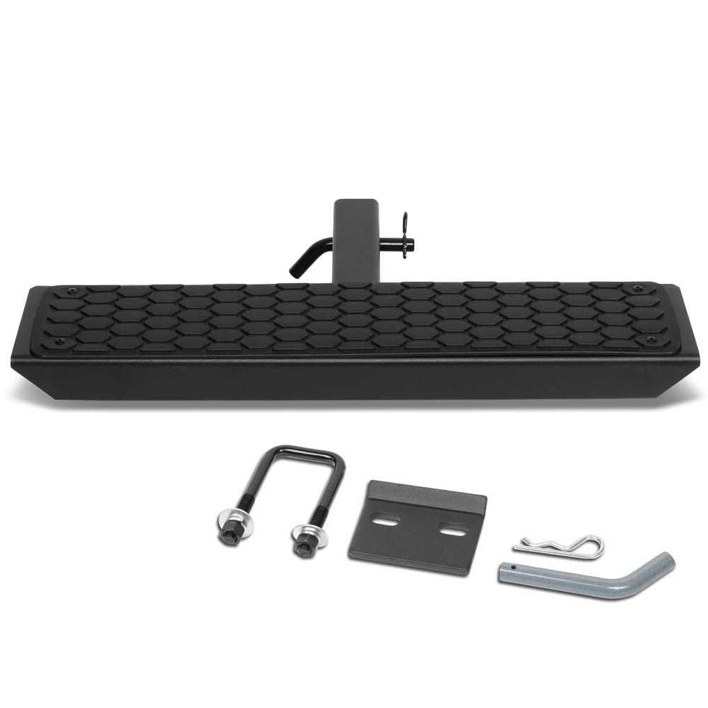 "26""Long/5""W Honeycomb Step Pad Heavy Duty Hitch Step Bar Black For 2"" Receiver"