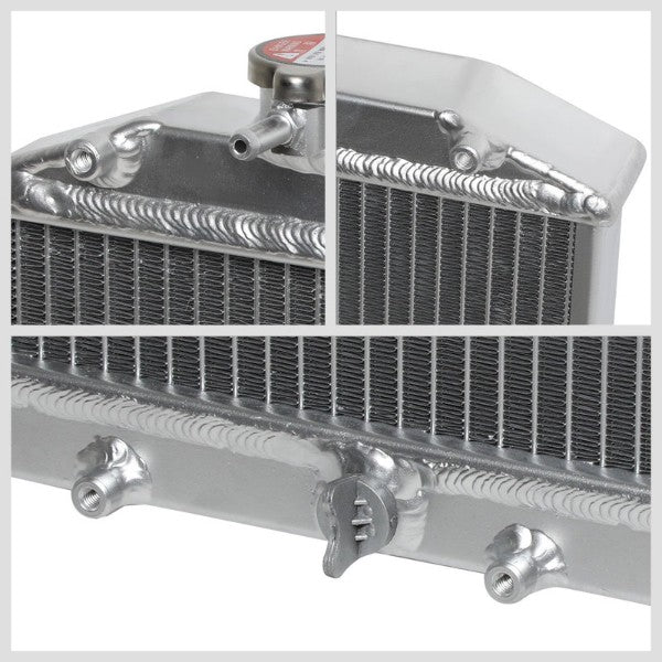 1-Row Metallic Aluminum Radiator Kit For 92-00 Honda Civic/94-01 Acura Integra-Performance-BuildFastCar