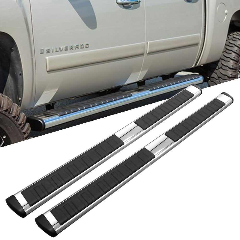 "Chrome Straight 4.5"" Wide Step Running Board For 05-15 Toyota Tacoma Crew/Double-Running Boards/Steps-BuildFastCar"