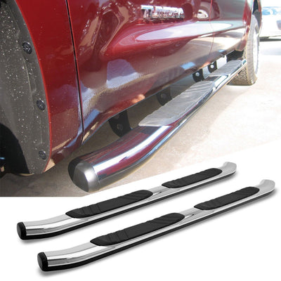 "Chrome 5"" Wide Step Running Board For 99-16 F-250 Super Duty Crew/SuperCrew Cab-Running Boards/Steps-BuildFastCar"
