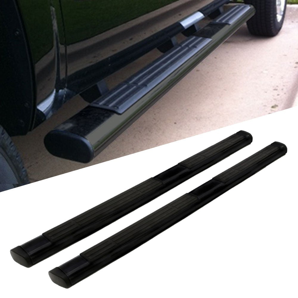 "Black 6"" Wide Step Running Board For 99-16 F-250 Super Duty Extended/SuperCab-Running Boards/Steps-BuildFastCar"