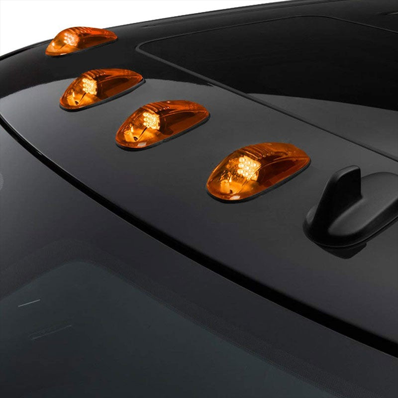 5PCs Amber Lens LED Cab Roof Top Marker Light Running Lamp Cover For 02-08 Ram-Exterior-BuildFastCar