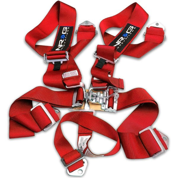 NRG SBH-5PCRD 5-Point Latch Link Red SFI Approved 16.1 Racing Seat Belt Harness