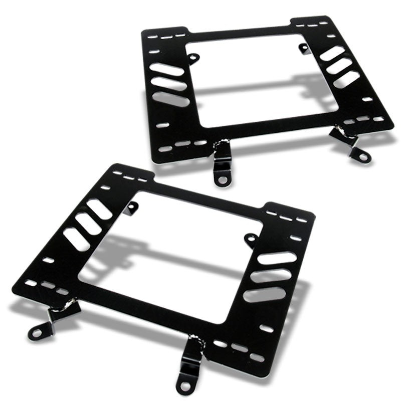 2x Steel Racing Seat Base Mounting Bracket Adapter For Ford 79-98 Mustang PONY-Seats-BuildFastCar