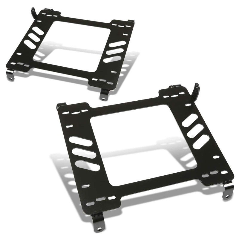2x Mild Steel Racing Seat Base Mounting Bracket For 05-14 Mustang GT500 S-197-Seats-BuildFastCar