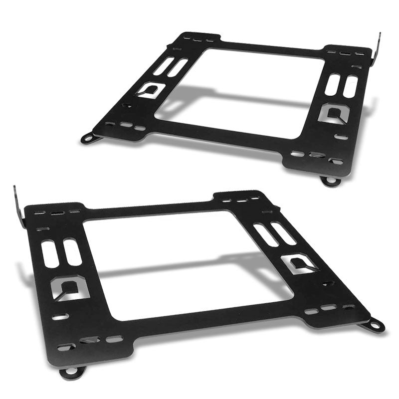2x Mild Steel Racing Seat Base Mounting Bracket Adapter For 99-05 BMW 3-Series-Seats-BuildFastCar
