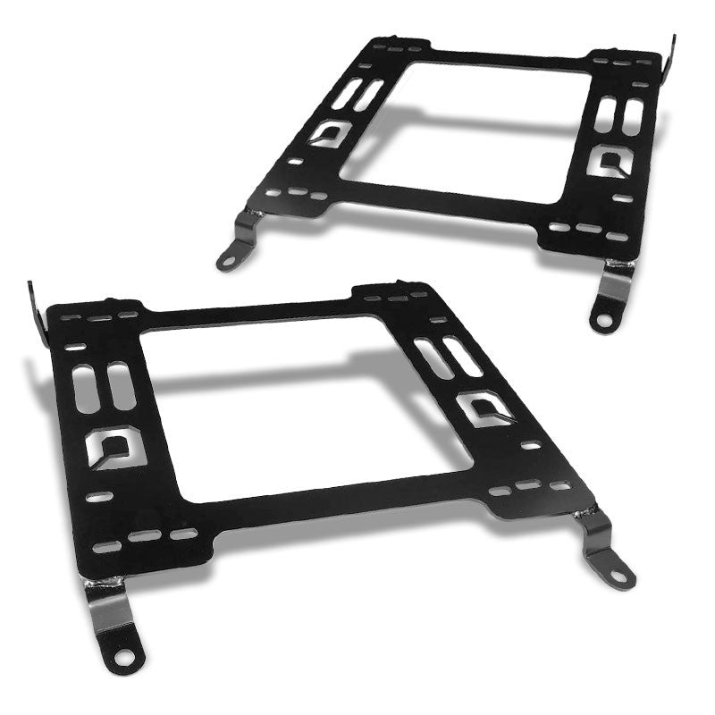 2x Steel Racing Seat Base Mounting Bracket Adapter For 08-17 Lancer Evolution-Seats-BuildFastCar