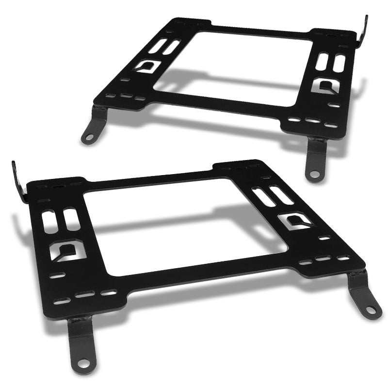 2x Mild Steel Racing Seat Base Mounting Bracket Adapter For 10-16 Genesis Coupe-Seats-BuildFastCar