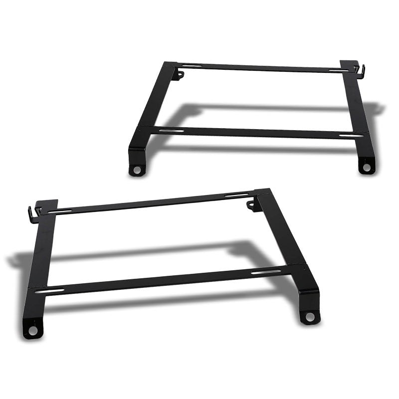 2x Steel Bucket Racing Seat Low Mounting Bracket For Nissan 89-98 240SX S13 S14-Seats-BuildFastCar