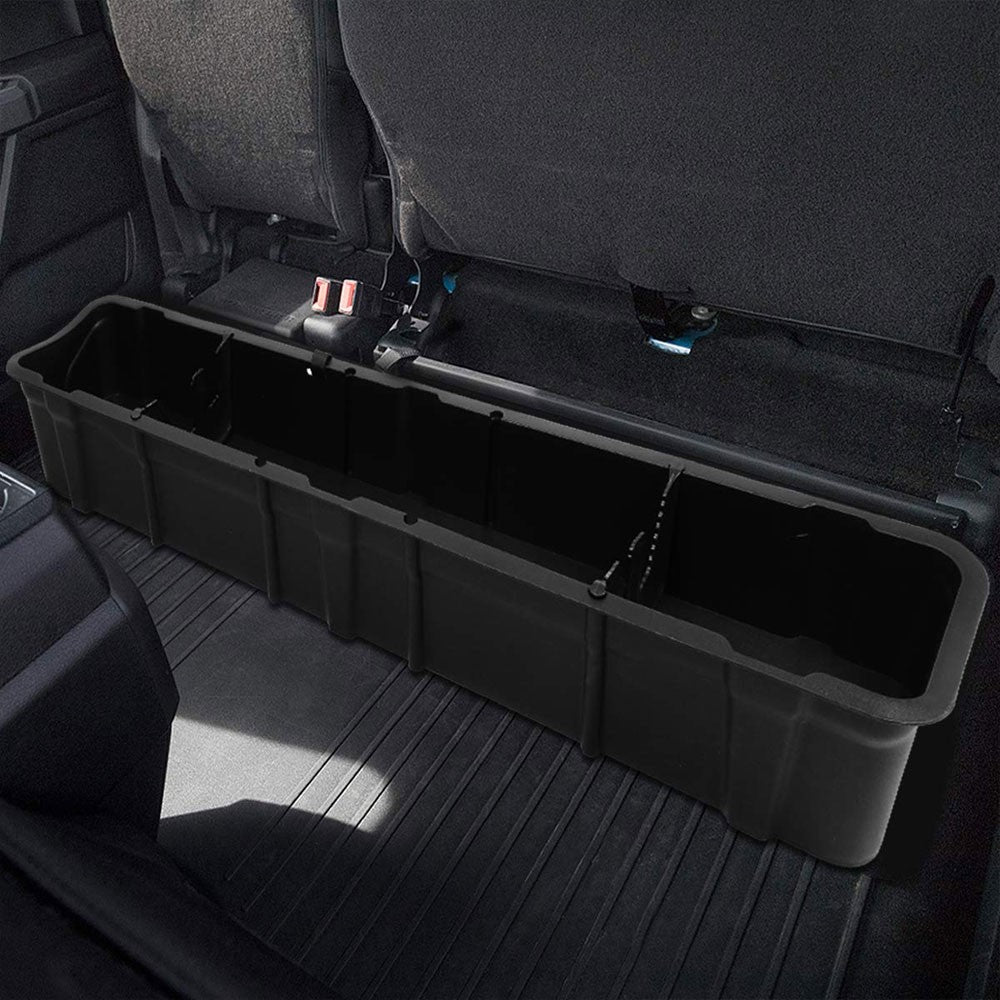 matte-texture-black-rear-under-seat-storage-tray-for-15-20-ford-f-150-crew-cab