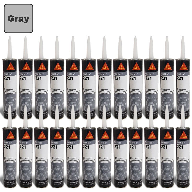 24X Sika Sikaflex 221 Industrial/Repair Sealant Sealer 300ML/Polyurethane/Gray-Adhesives Sealants & Tapes-BuildFastCar-BFC-TTP-SEAL-SIL-221-X24
