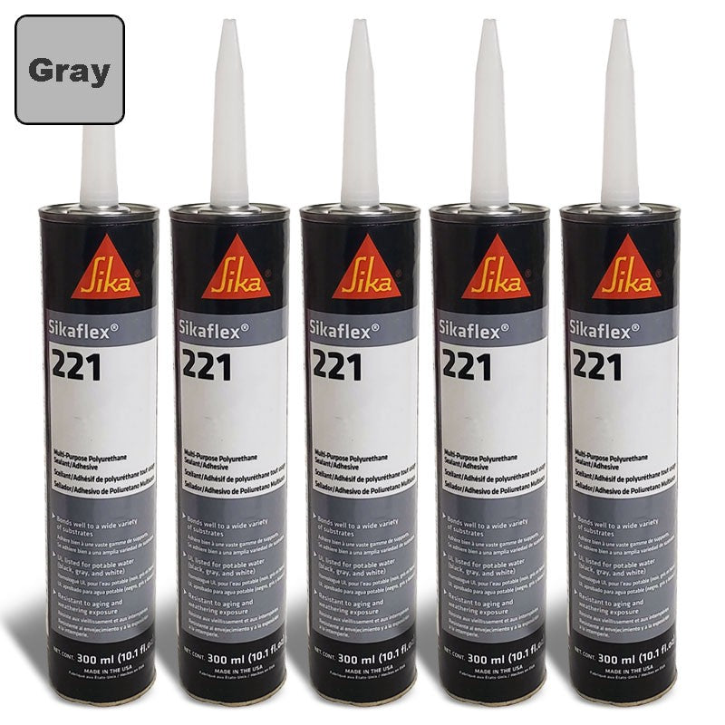 5X Sika Sikaflex 221 Industrial/Repair Sealant Sealer 300ML/Polyurethane/Gray-Adhesives Sealants & Tapes-BuildFastCar-BFC-TTP-SEAL-SIL-221-X5