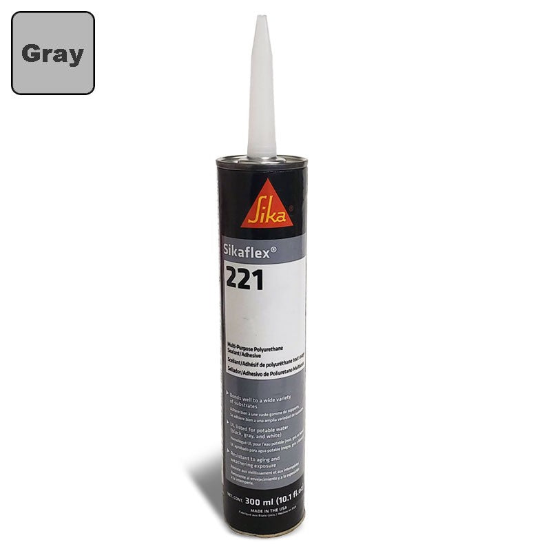Sika Sikaflex 221 Industrial/Repair Sealant Sealer (300ML/Polyurethane/Gray)-Adhesives Sealants & Tapes-BuildFastCar-BFC-TTP-SEAL-SIL-221