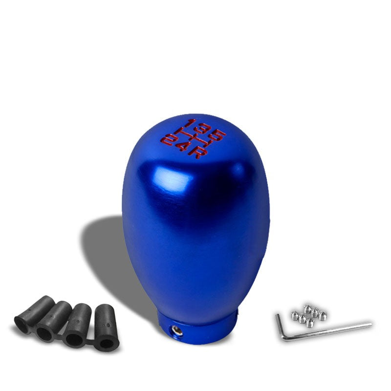 NRG Innovations Blue Type-R 5-Speed Manual M8 M10 M12 SK-5S-BL-RD Shift Knob