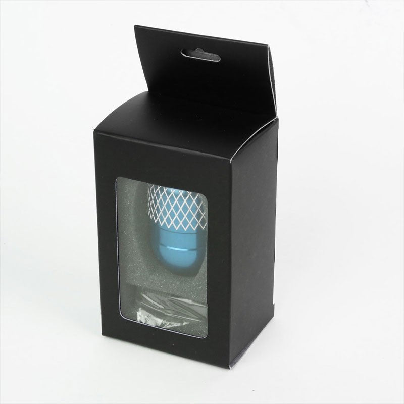 Light Blue/White Netted Short Throw Shifter+Shift Knob For 89-98 240SX S13 S14-Shifter Components-BuildFastCar-BFC-SHT-NS13+SHIFTKNOB-NET5SP-T1-LB