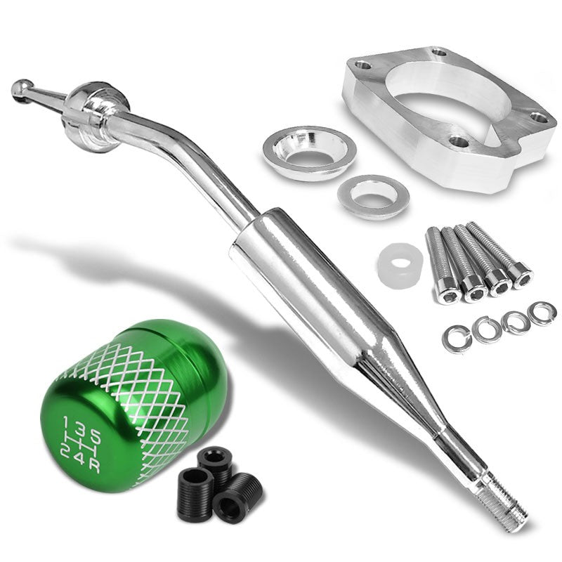 Manzo Short Shifter+Green Net/White 5-Speed Knob For 83-87 Corolla GTS AE86 MT