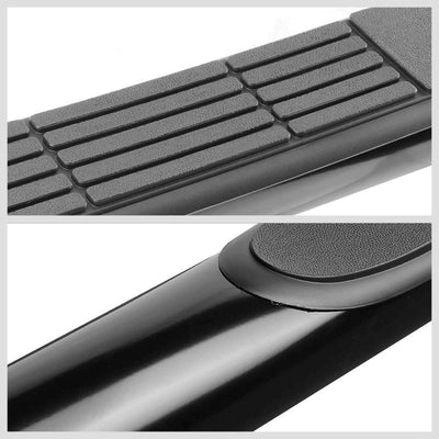 "Black Steel 90 Degree Bend 3"" Wide Step Running Board For 04-15 Titan Extended-Running Boards/Steps-BuildFastCar"