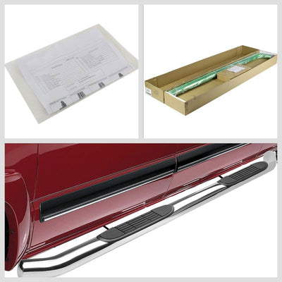 "Silver Steel 45 Degree Bend 3"" Wide Step Running Board For 16-18 Honda Pilot-Running Boards/Steps-BuildFastCar"
