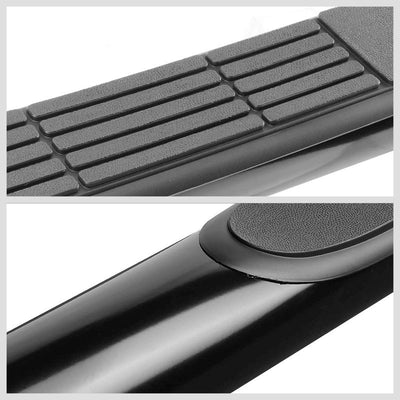 "Black Steel 45 Degree Bend 3"" Wide Step Running Board For 19 Ram 1500 Crew Cab-Running Boards/Steps-BuildFastCar"