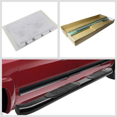 "Black Steel 4"" Wide Step Running Board For 15-18 Ford F-150 Extended/SuperCab-Running Boards/Steps-BuildFastCar"