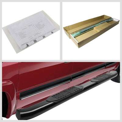 "Black Steel 45 Degree Bend 4"" Wide Step Running Board For 04-14 F-150 Standard-Running Boards/Steps-BuildFastCar"