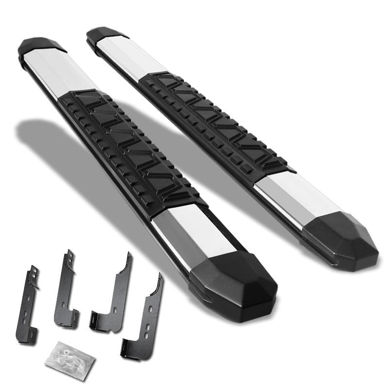 "Silver Straight 5"" Wide Step Running Board For 07-18 Silverado 1500 Standard-Running Boards/Steps-BuildFastCar"