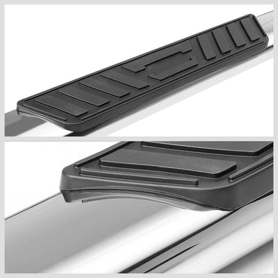 "Silver 45 Degree Bend 5"" Wide Step Running Board For 01-16 Silverado Crew Cab-Running Boards/Steps-BuildFastCar"