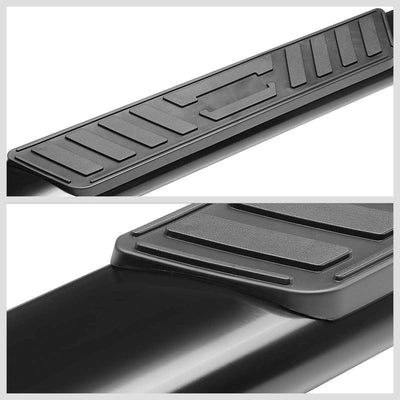 "Black Steel Straight 5"" Wide Step Pads Running Board For 19 Ram 1500 Crew Cab-Running Boards/Steps-BuildFastCar"