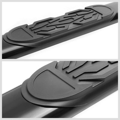 "Black Straight 6"" Wide Step Running Board For 01-16 Chevrolet Silverado Crew Cab-Running Boards/Steps-BuildFastCar"