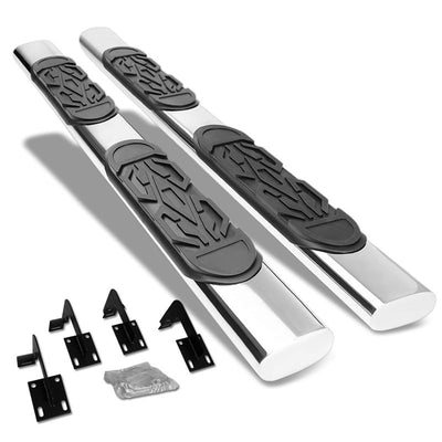 "Silver Straight 6"" Wide Step Running Board For 99-16 F-250 Super Duty Extended-Running Boards/Steps-BuildFastCar"