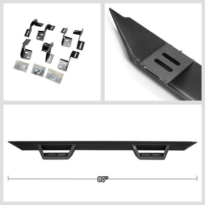 "Black Aluminum Step-Down 3"" Wide Step Running Board For 09-18 Ram 1500 Extende-Running Boards/Steps-BuildFastCar"