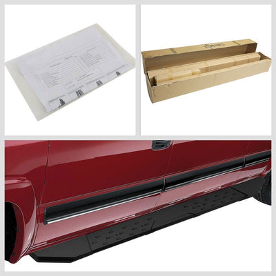 "Black Straight 5.5"" Wide Step Running Board For 07-18 Silverado 1500 Extended-Running Boards/Steps-BuildFastCar"