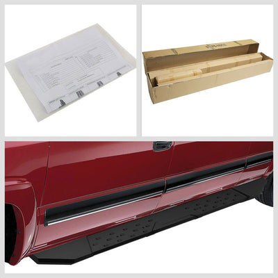 "Black Steel Straight 5.5"" Wide Step Running Board For 09-17 Ram 1500 Extended-Running Boards/Steps-BuildFastCar"