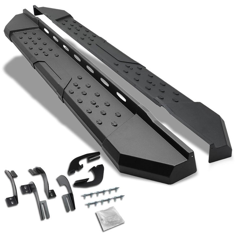 "Black Steel Straight 5.5"" Wide Step Running Board For 05-18 Tacoma Extended Cab-Running Boards/Steps-BuildFastCar"
