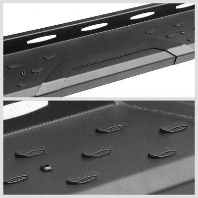 "Black Straight 5.5"" Wide Step Running Board For 05-18 Toyota Tacoma Crew/Double-Running Boards/Steps-BuildFastCar"