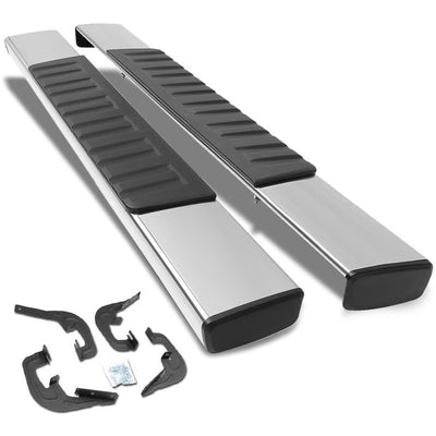 "Silver OE 6"" Wide Step Running Board For 07-16 Chevrolet Silverado 1500 Crew Cab-Running Boards/Steps-BuildFastCar-BFC-STEPBAR-TYZTL019-SS"